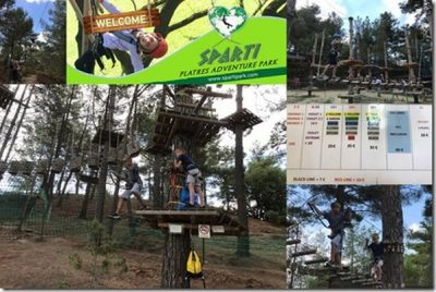 Sparti Rope Park Review in Troodos Mountains