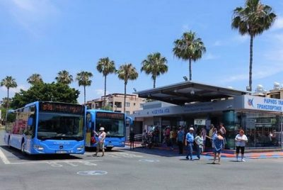 Bus routes in Paphos, Cyprus