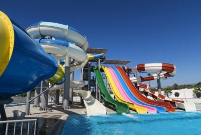 Sundance Villas Review of the 2 small water parks attached to Paphos hotels, Laura Beach and King Evelthon